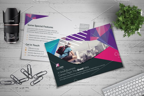 Abstract Postcard Template