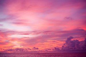 sunset purple indonesia sky