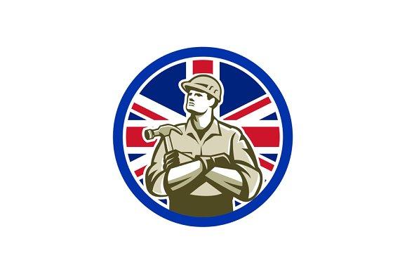 British Builder Union Jack Flag Icon
