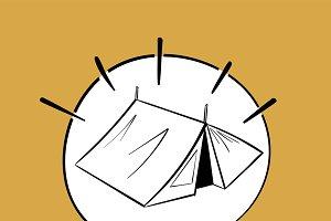 Illustration of tent