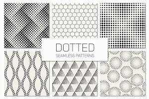 Dotted Seamless Patterns. Set 3