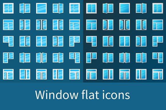 Window Flat Icons