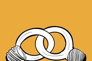 Illustration of individuality icon