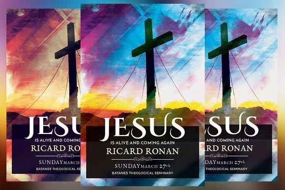 Jesus Is Alive Church Flyer