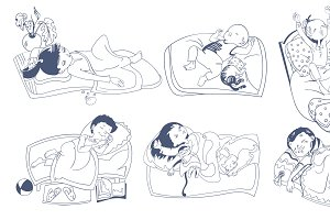 Sketch Sleeping Kids Set