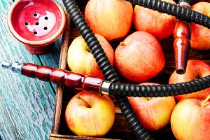 hookah with apple.