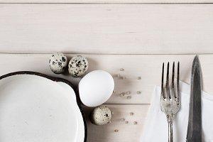 Rustic breakfast background