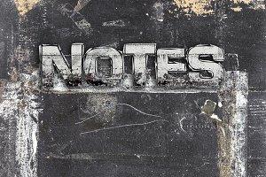 Chalkboard notes