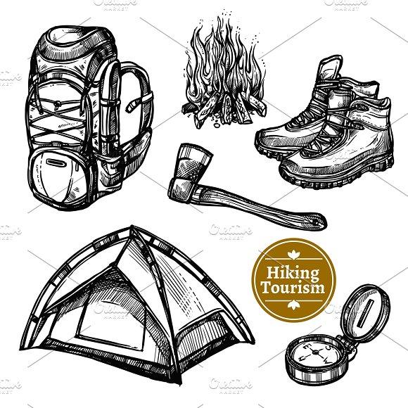 Sketch Tourism Camping Set