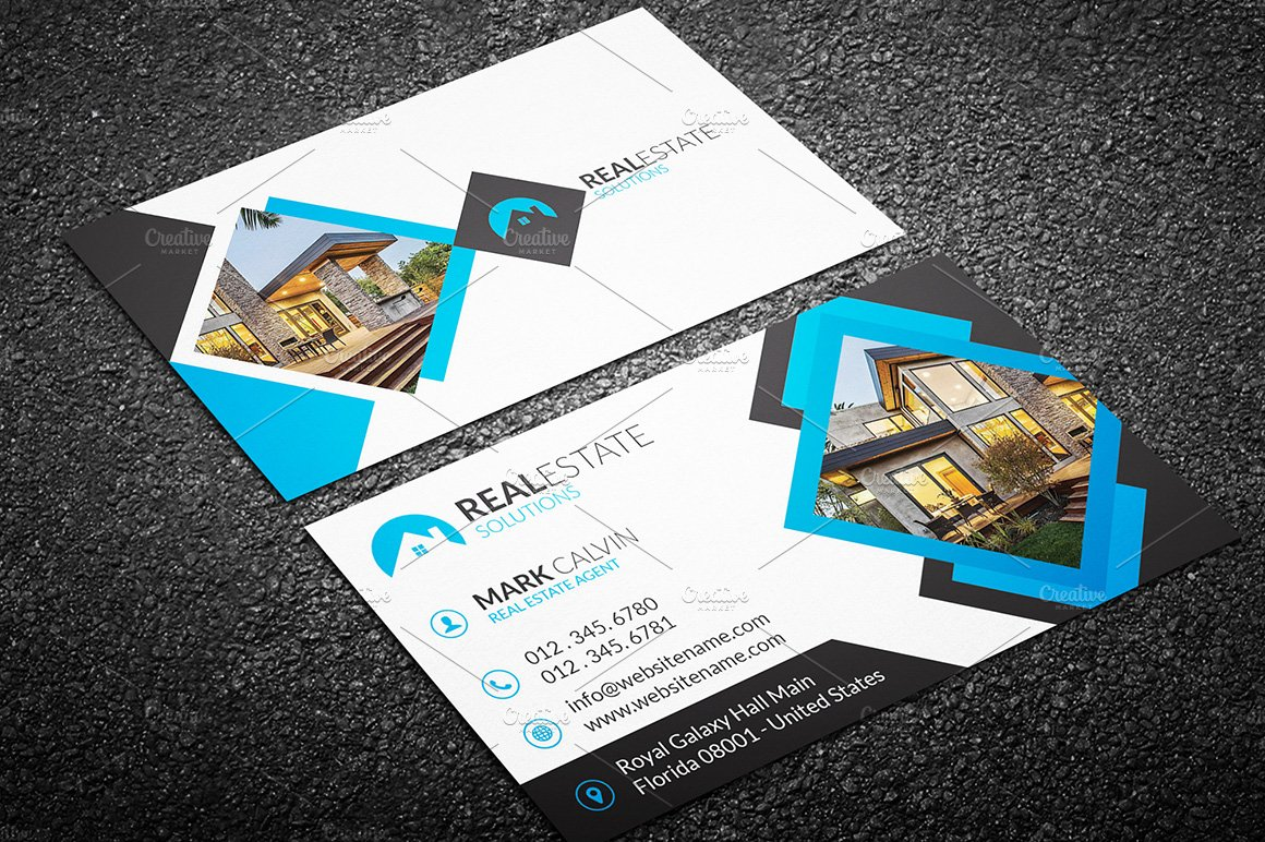 real estate business card 42 business card templates creative market - Real Estate Business Card