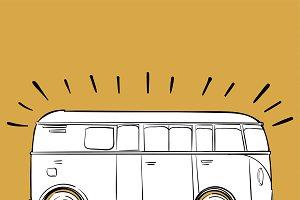 Illustration of van
