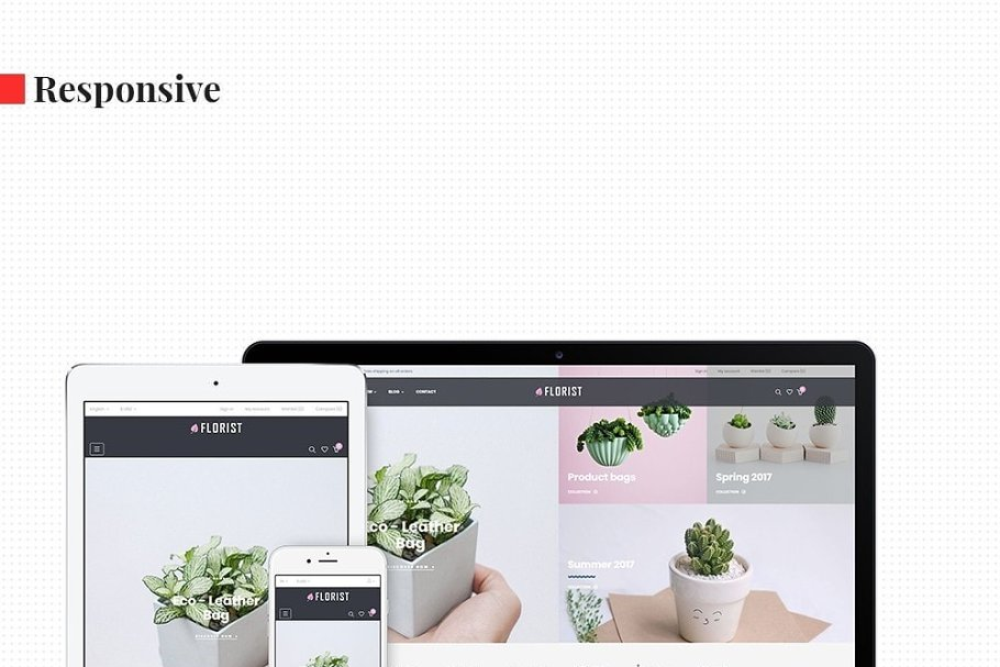 Leo Florist in Bootstrap Themes - product preview 1