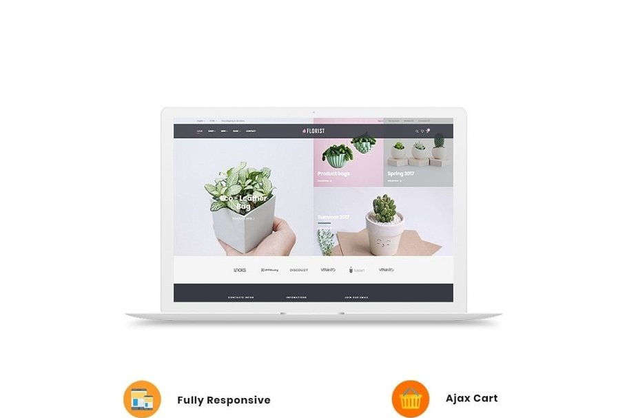 Leo Florist in Bootstrap Themes - product preview 2