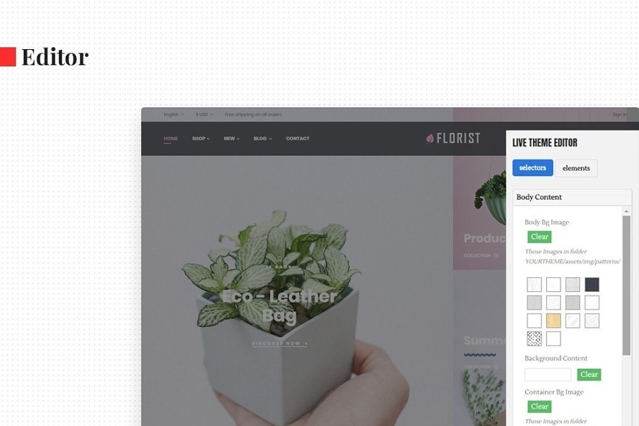 Leo Florist in Bootstrap Themes - product preview 3