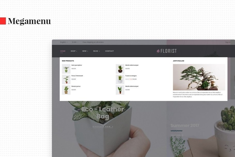 Leo Florist in Bootstrap Themes - product preview 4