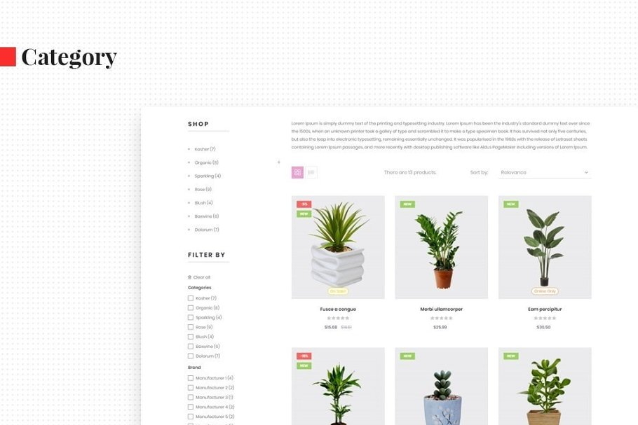 Leo Florist in Bootstrap Themes - product preview 5