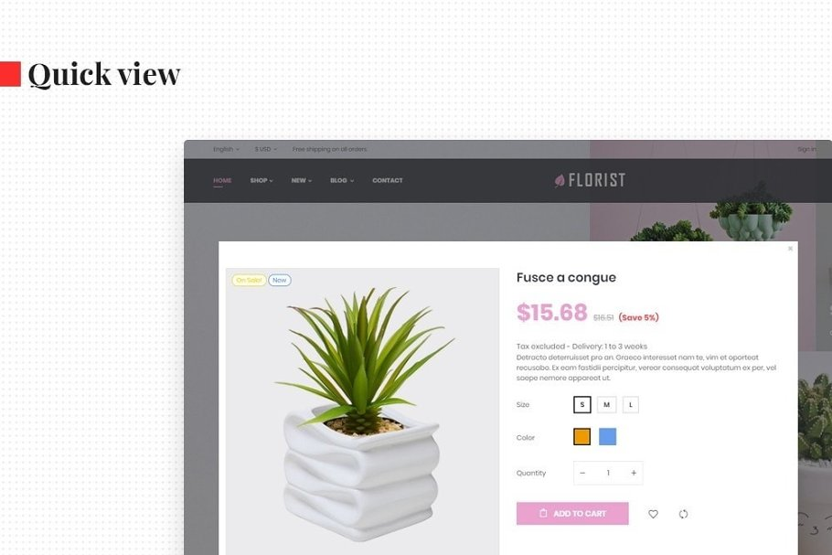 Leo Florist in Bootstrap Themes - product preview 7