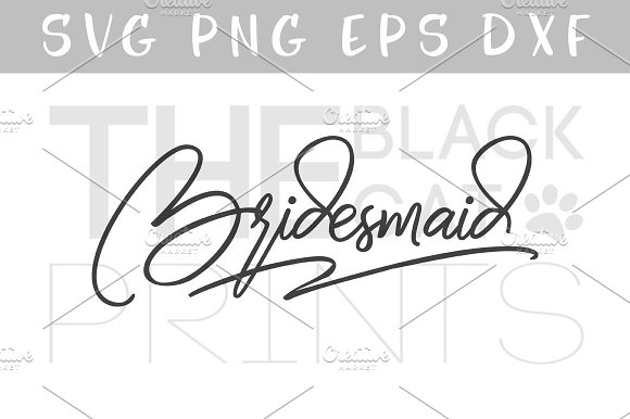 Bridesmaid SVG DXF PNG EPS