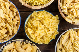 Different Types of Raw Pastas