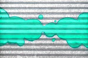 Turquoise bubbles