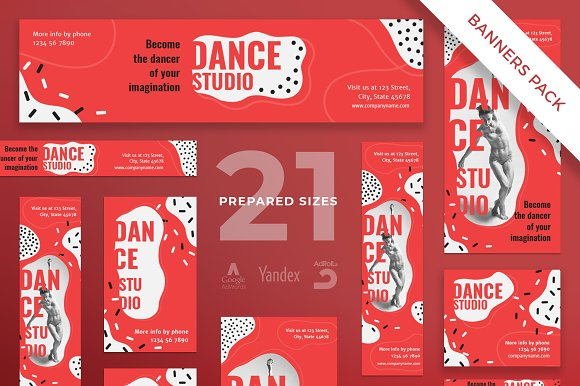 Banners Pack Dance Studio