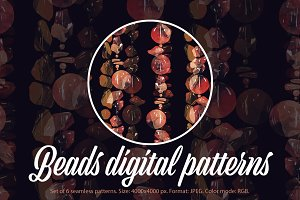 SALE: Beads digital seamlesses |JPEG