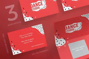 Business cards dance studio business card templates creative business cards dance studio business card templates creative market colourmoves