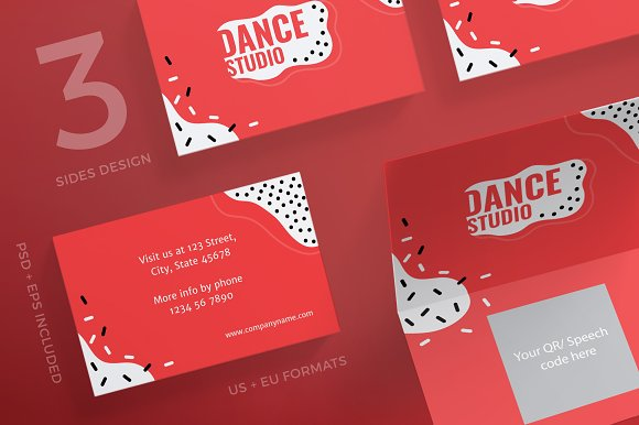 Business Cards Dance Studio