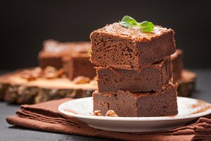 Chocolate brownie slices