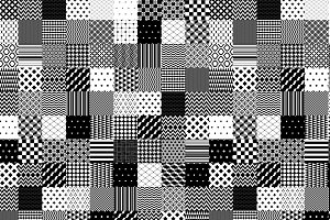 Black and white patchwork pattern