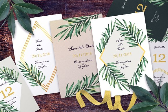 Greenery Gold Wedding Suite