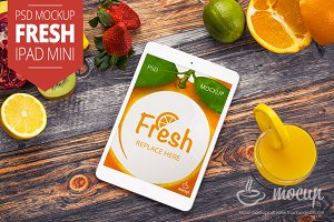 iPad Mini PSD Mockup Fresh