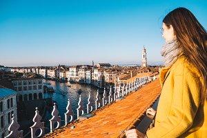 Girl watching Venice view