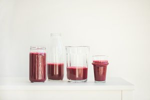 Fresh morning beetroot smoothie