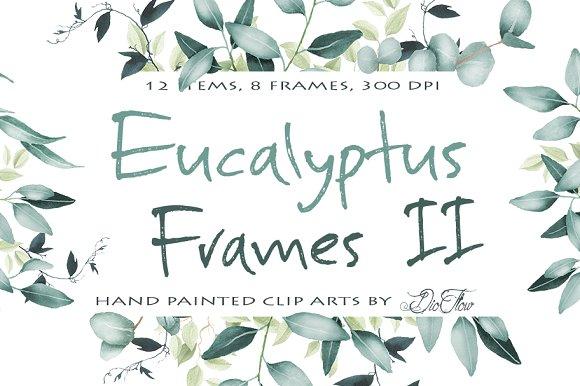 Eucalyptus Frames 2 Clip Art