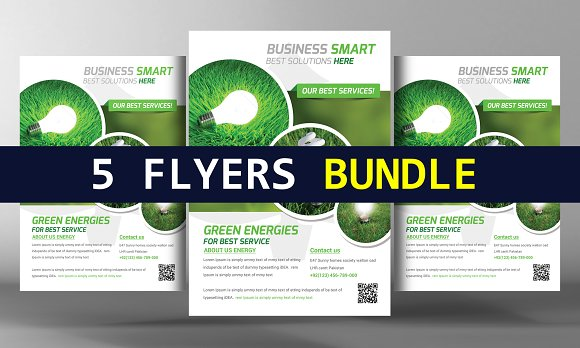 5 Clean Creative Business Flyers