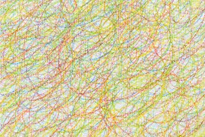 Abstract draw scribble color pencil