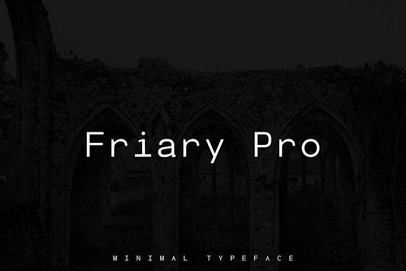 Friary Minimal Typeface Web Font