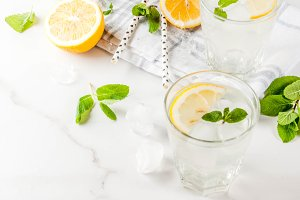Summer mojito or lemonade