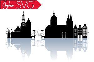 Amsterdam City SVG Netherlands