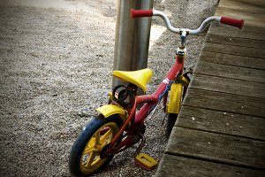 bike on the playground