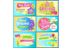 Seasonal Offer Spring Sale Advertisement Flowers