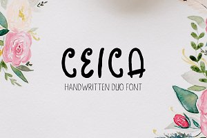 Ceica Handwritten Duo Font + Bonus