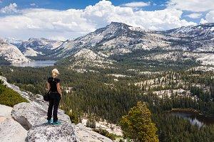 Tourist woman enjoying the view