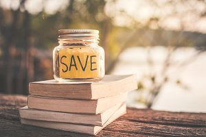 Coins save word and book