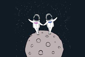 love story of astronauts