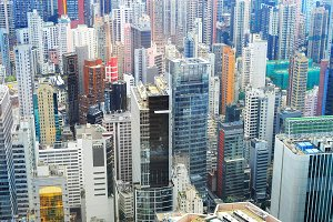 Business district, Hong Kong