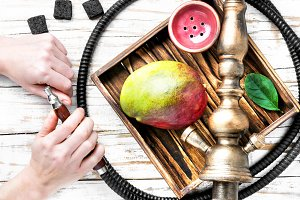 Hookahs and accessories in shisha