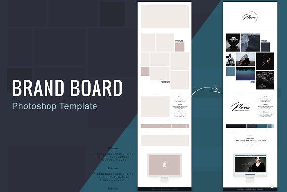 Brand Board Template Nova