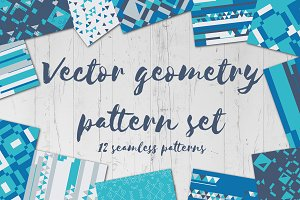 Vector geometry pattern set